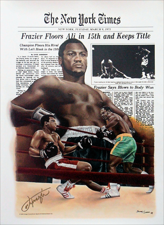 Muhammad Ali Vs Joe Frazier 1 Signed Art Canvas