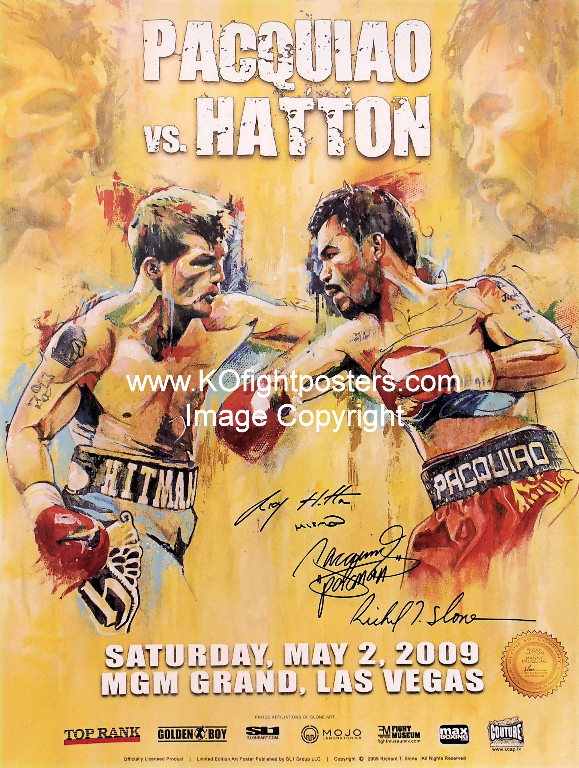 Ricky Hatton Boxing Great Screaming POSTER