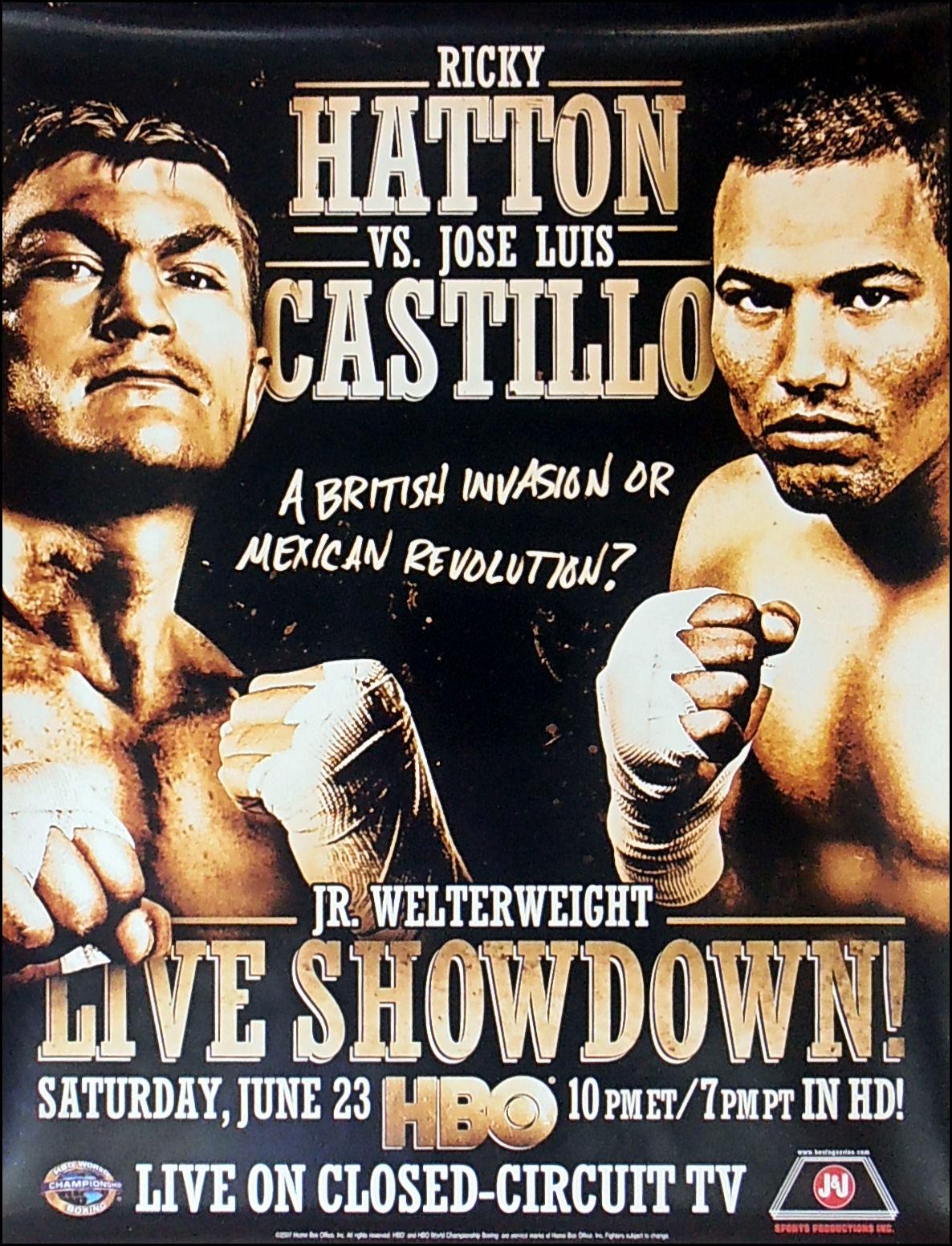 Ricky Hatton v Jose Luis Castillo 2007 Boxing Photo Memorabilia