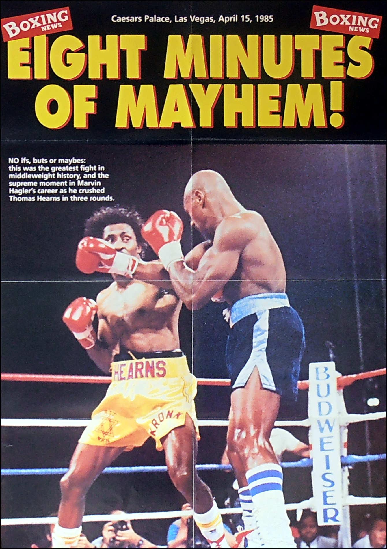 Marvin Hagler Vs Thomas Hearns Boxing News
