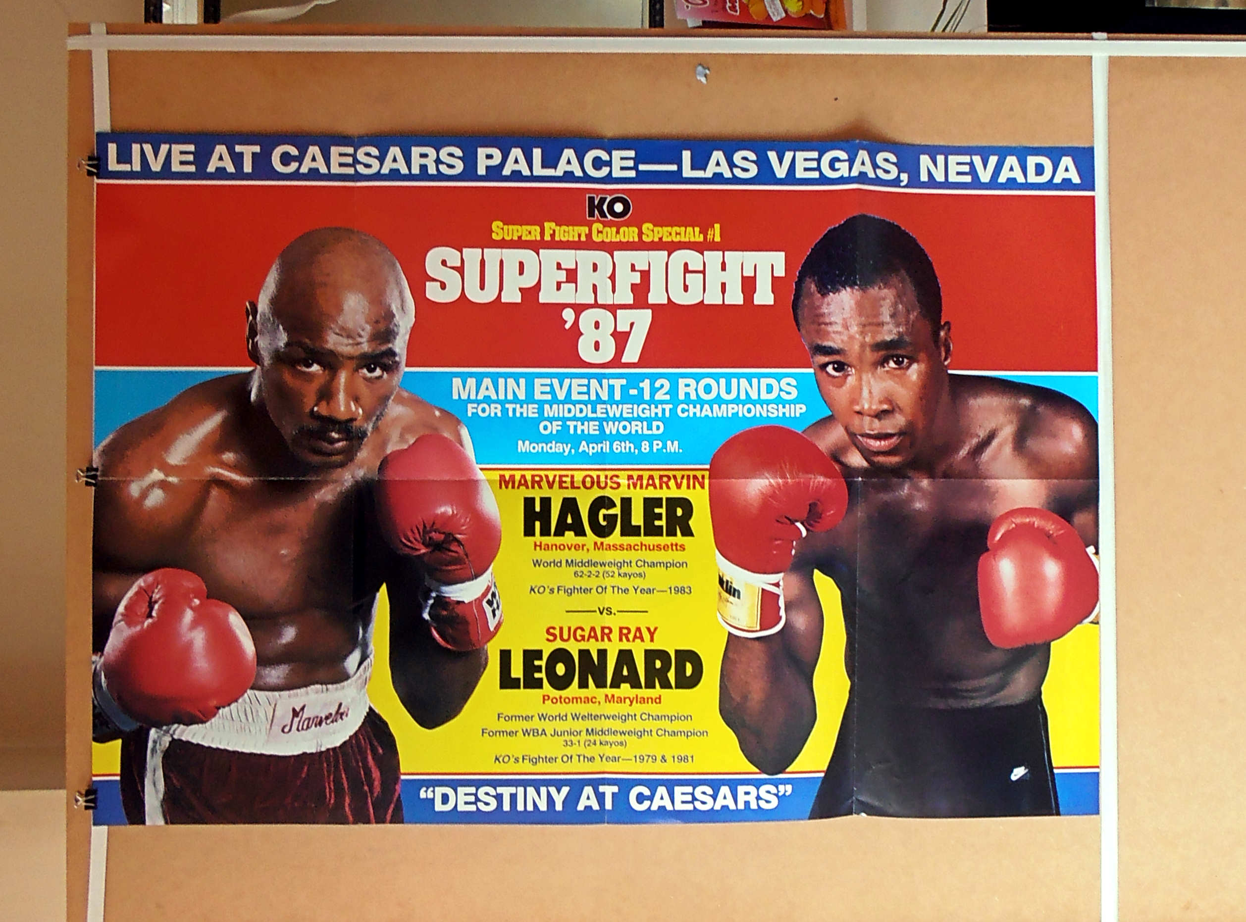 marvin hagler vs sugar ray leonard ko